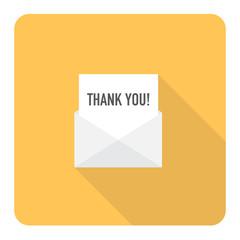 Thank you letter. Vector Illustration.