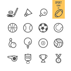 Sport icons set. Vector illustration.