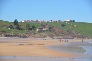 panoramica de la playa de oyambre, Cantabria