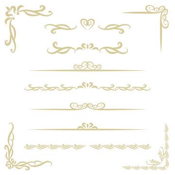 装飾フレームと飾り罫 / vector eps 10