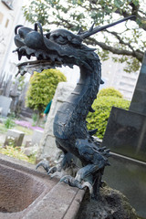 手水舎のドラゴン