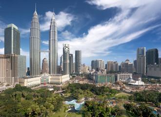 Fotobehang Kuala Lumpur Kuala Lumpur downtown