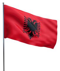 Albanian flag isolated