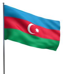 Azerbaijan flag isolated