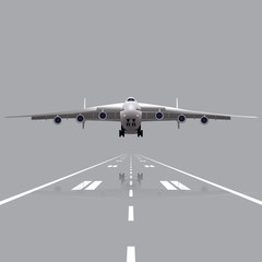plane taking off with a reflection