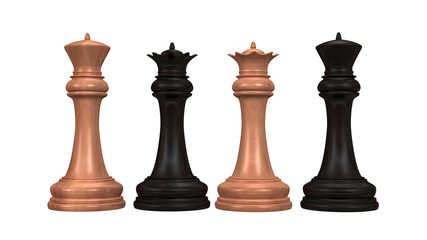 3d chess figures