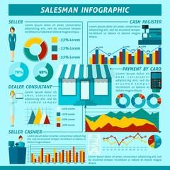Salesman Infographics Set