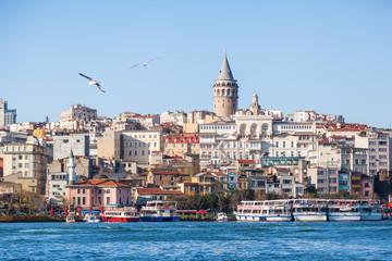 Stadtansicht von Istanbul mit Galataturm