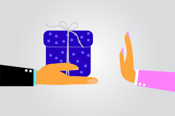 Woman Hand - Refuse Gift From Other Hand