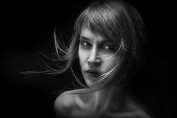 sad girl in dark