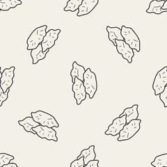 dumpling doodle seamless pattern background