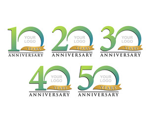 anniversary element green logo