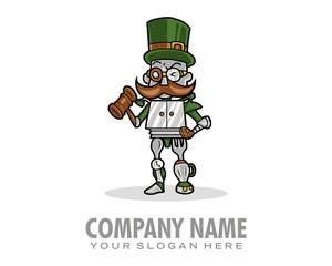robot character mascot image vector