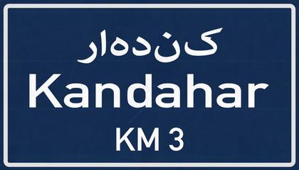 Kandahar Afghanistan Highway Road Sign