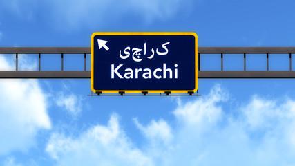 Karachi Pakistan Highway Road Sign