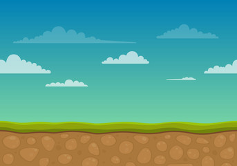 Vector Illustration of an Unending Landscape Background