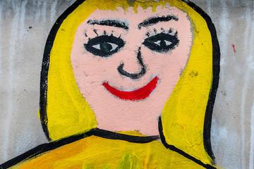 Gemälde auf der Mauer einer Schule