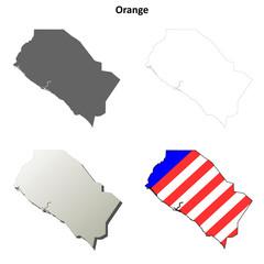 Orange County (California) outline map set