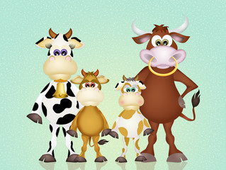 cows family