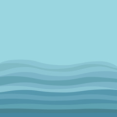 Sea Ocean water blue waves sky underwater landscape Flat