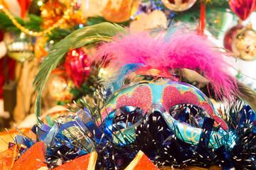 Christmas Blue Mask