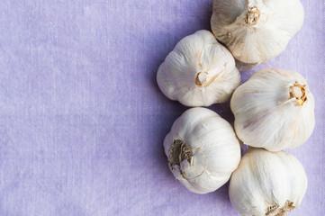 Organic garlic, clean eating concept