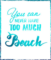 Bright summer motivational poster about beach vacation and