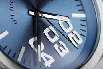 macro closeup of modern luxury wristwatch