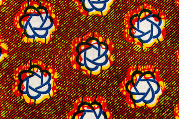 Manufactured African fabric (cotton)