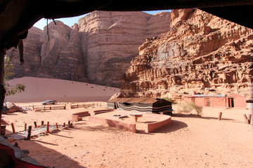 Bedouin camp in the Wadi Rum desert, Jordan