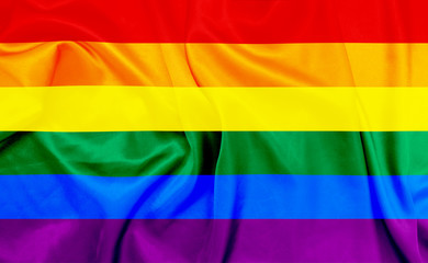 LGBT waving flag