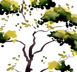 Illustration isolated tree