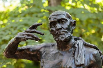 .Statue in Rodin Museum in Paris