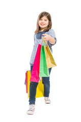 Garden Poster Fairytale World Young shopping girl walking