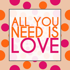 All You need Is Love Peach Pink