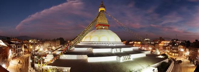 Evening view of Bodhnath stupa - Kathmandu - Nepal