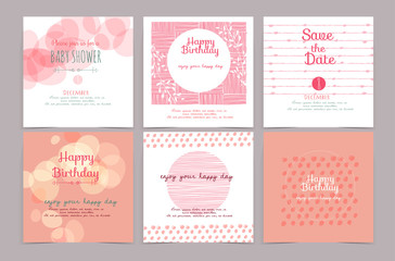set of universal vintage hand drawn card and  brochure vector il