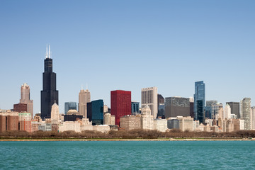 Canvas Print - Chicago Skyline - seen from Lake Michigan