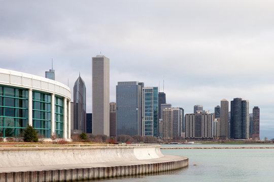 Chicago Skyline and Shedd Aquarium