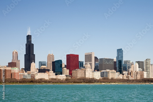 Wall mural Chicago Skyline - seen from Lake Michigan