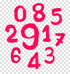 The number drawn by a crayon.