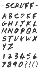 Scruff - Vector Hand Drawn Alphabet