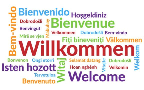 Wordcloud Willkommen