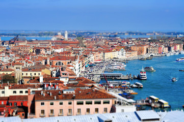 tilt-shift photography of Venice, Italy
