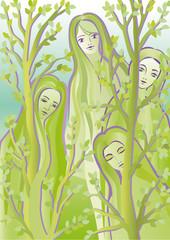 Forest spirits Dryads