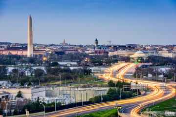 Washington, DC Cityscape with Monuments
