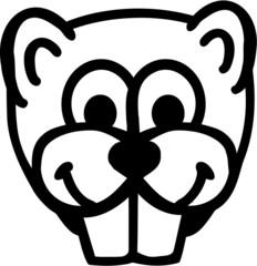 Beaver Comic Head
