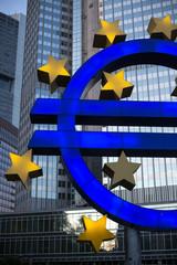 euro sign frankfurt am main germany