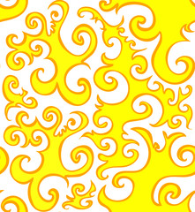 Golden vector seamless pattern with figured shapes