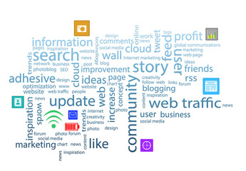 Word cloud. Internet concept
